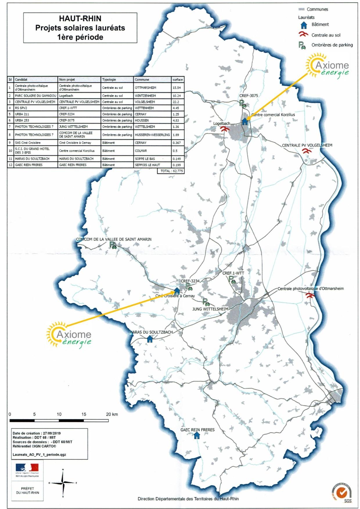 Carte des laureats AO post Fessenheim 1ere periode AxEn - Actualité